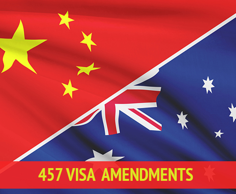 457 visa amendments to hel austrlai china free trade agreement