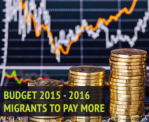 Budget 2015-2016 migrants need to pay more