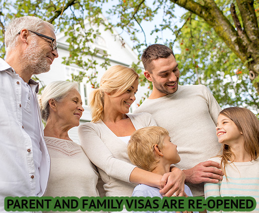 parent visas are reopened