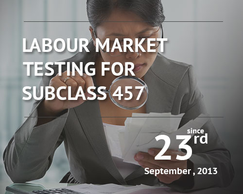 Labour Market Testing For Subclass 457 Begins Saturday 23