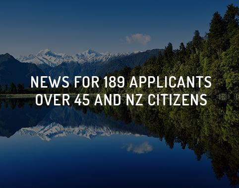 News for 189 applicants